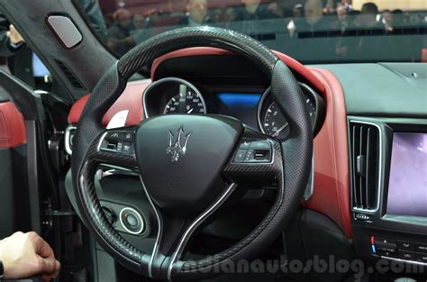 maserati steering wheel driving maserati levante steering wheel at the 2016 geneva motor