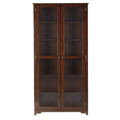 Bookcase Glass Door by Home Decorators Collection Oxford Chestnut Glass Door