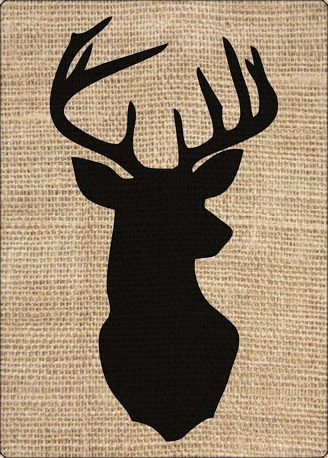 thick stencil rustic deer head silhouette craft paint
