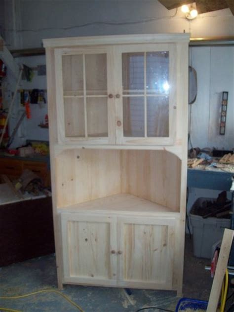 build your own china cabinet how to build a corner hutch plans diy free download rustic