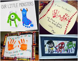 Father's Day Handprint And Footprint Crafts For Kids - I ...