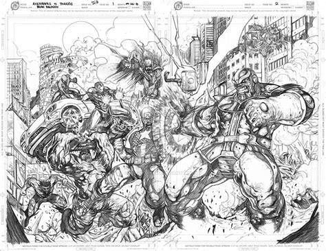 avengers vs thanos by loadedatama on deviantart