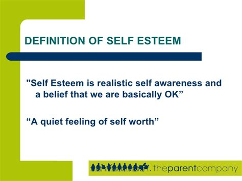 Building Self Esteem With Your Children Presentation