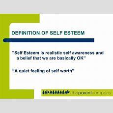 Building Self Esteem With Your Children Presentation