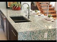 glass counter tops Recycled Glass Countertops Ideas - YouTube