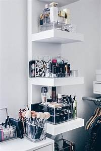 Nagellack Regal Ikea : meine neue schminkecke inklusive praktischer kosmetikaufbewahrung pinterest lippenstift ~ Markanthonyermac.com Haus und Dekorationen
