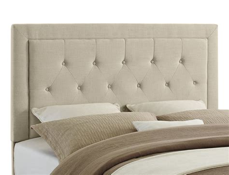 linon clayton headboard full queen size natural linen 13