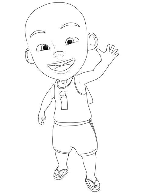 gambar kartun upin dan ipin hitam putih bestkartun
