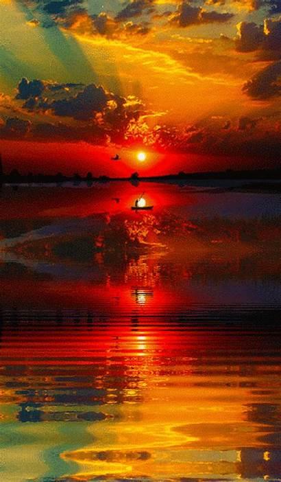 Sunrise Nature Amazing Animated Sun Sunsets Pretty