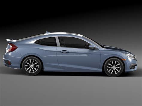 honda civic 2017 coupe honda civic coupe led 2017 3d model max obj 3ds fbx c4d