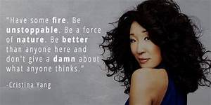 14 Grey's A... Cristina Yang Cookie Quotes