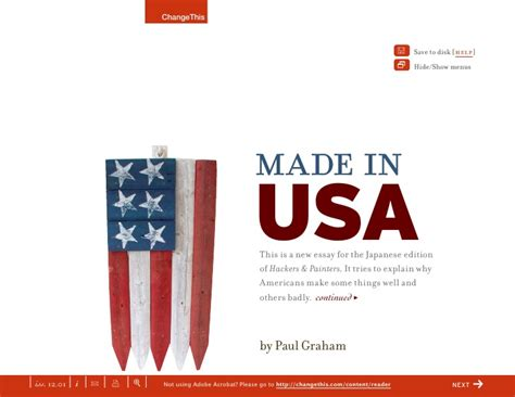 things made in america made in usa why americans make some things well and some badly a ch