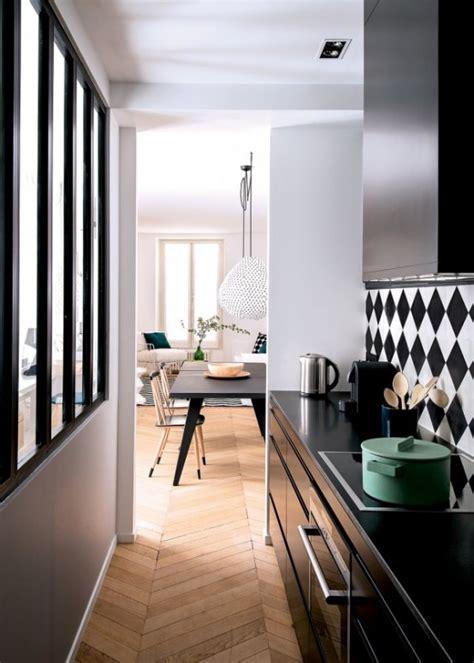 stylish  functional super narrow kitchen design