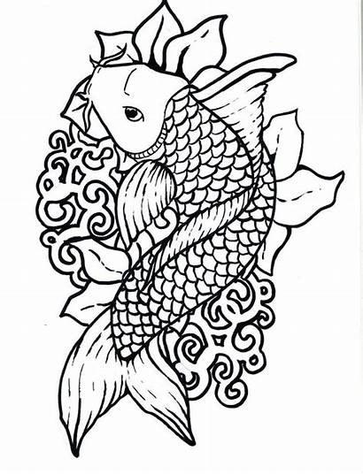 Traceable Fish Coloring Outlines Clipart Library Pages