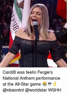 CardiB Was Feelin Fergie's National Anthem Performance at ...