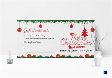 christmas certificate template certificatetemplategiftcom