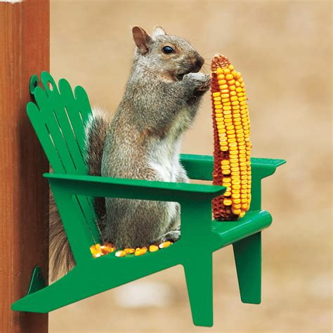 squirrel feeder lawn chair adirondack chair squirrel feeder gifts for