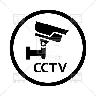 icon of cctv on white background surveillance sign vector of icons and