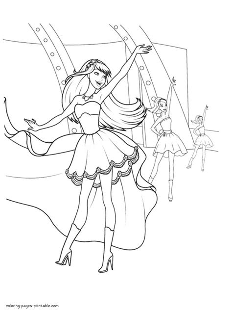 barbie  princess  popstar colouring pages  print coloring pages printablecom
