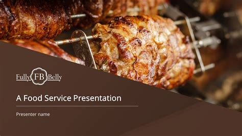 premium cuisine food service premium powerpoint template slidestore