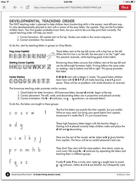 handwriting  tears order letters pinterest