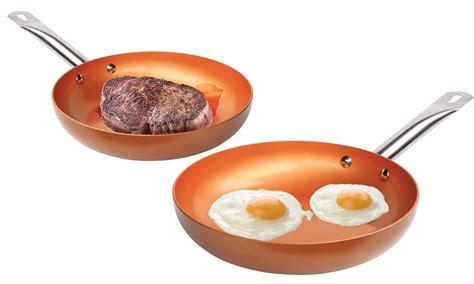 tv  nonstick copper frying pan groupon