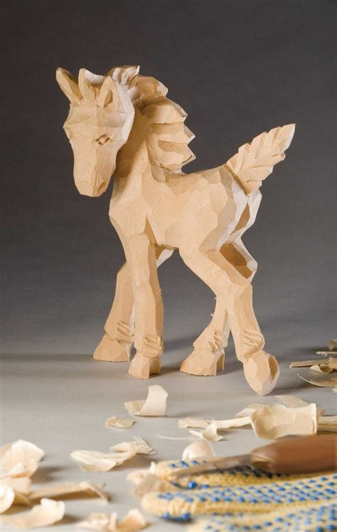 carving  caricature colt woodcarving illustrated