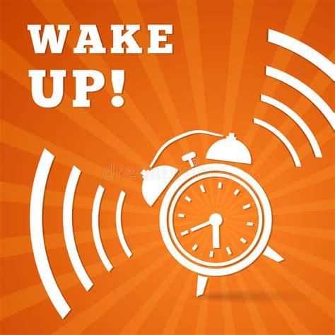 wake  alarm stock vector illustration  sign clock
