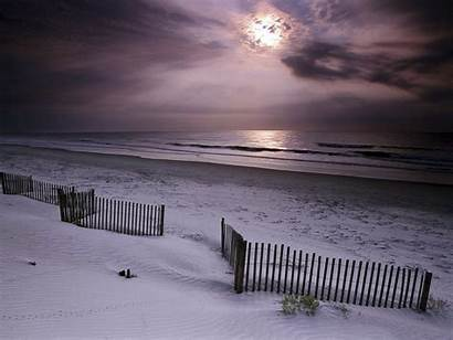 Beach Sunrise Wallpapers Desktop Nature Winter Background