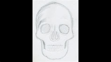 draw  skull easy hd youtube