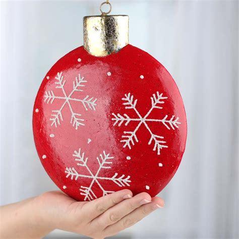 large sparkling flat  christmas ornament christmas ornaments christmas  winter