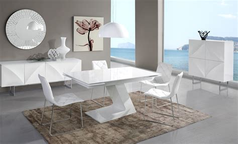 Meuble De Salle Manger Complte Blanc Laqu Design Arta
