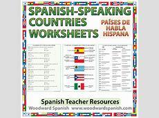 Spanishspeaking Countries Worksheets Woodward Spanish