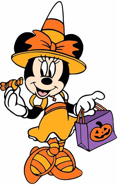 Halloween Disney Clipart Minnie Clip Mouse Witch
