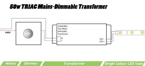 50w triac dimmable transformer