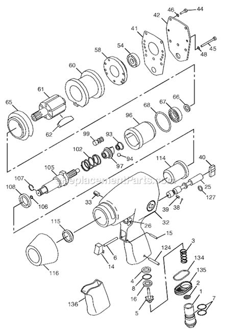 Chicago Pneumatic CP734H Parts List and Diagram - (T024351