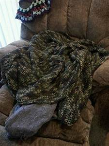 39 s camo afghan a knit or crochet blanket
