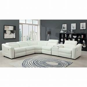 leather recliner sectional sofa With white leather sectional sofa with recliner