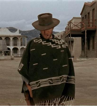Eastwood Clint Western Poncho Cowboy Movies Yul