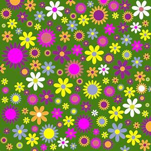 Clipart - Retro Floral Background Pattern