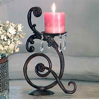 wrought iron candle holder Romance the Bedroom with a Decorative Wrought Iron Bed