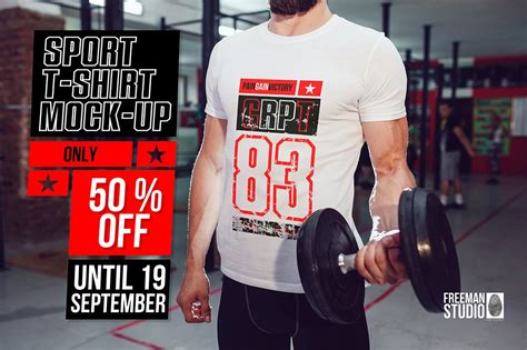 This free mockup designed by professional. Sport T-Shirt Mock-Up ~ Product Mockups ~ Creative Market