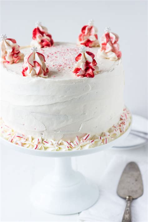 peppermint cake peppermint white chocolate cake recipe white chocolate cake whipped frosting and cake layers