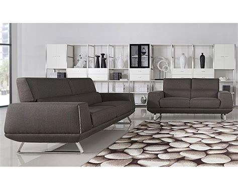 Gray Modern Sofa by Modern Grey Fabric Sofa Set 44l5947