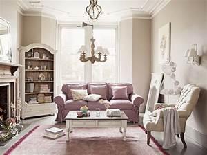 visite d39un cottage anglais elle decoration With tapis enfant avec canapé british interior s