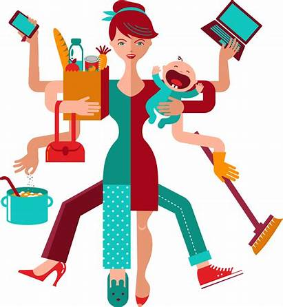 Working Clipart Hard Woman Flexible Being Parent