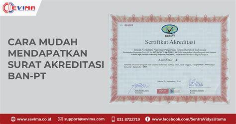 cara mendapatkan sertifikat akreditasi ban pt kus