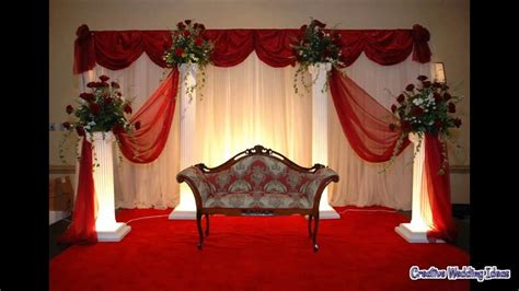 simple wedding stage decoration ideas simple stage decoration at home youtube
