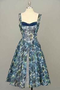 The Home Inventory Will Steinman 1950s Retro Print Vintage Party Prom Dress