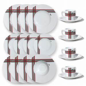 Service De Table Pas Cher : service de table complet rouge et vert vaisselle basque muxu ~ Teatrodelosmanantiales.com Idées de Décoration